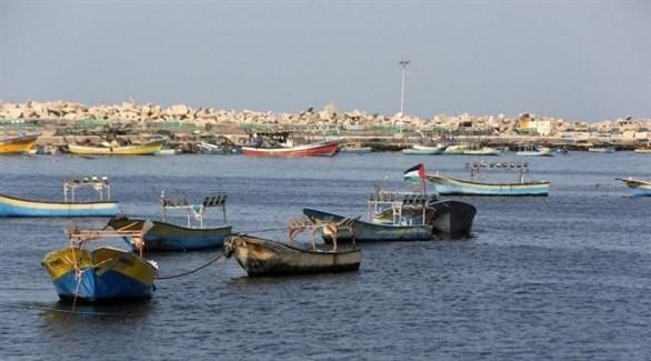 مراكب صيد فلسطينية في غزة (إ ب ا)