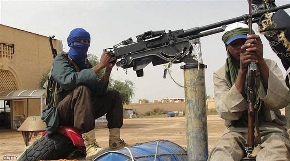 مسلحان من داعش في الصحراء الكبرى (أرشيف)