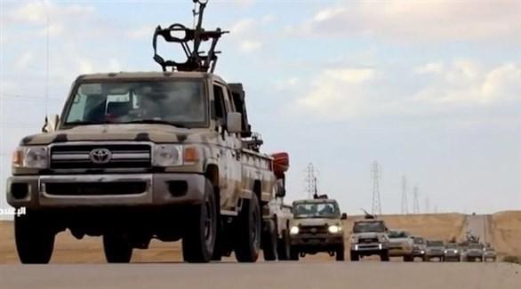 قافلة عسكرية للجيش الوطني الليبي (أرشيف)