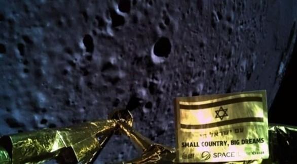 المركبة الفضائية الإسرائيلية قبل تحطمها (تويتر)