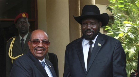 الرئيس السوداني البشير ونظيره الجنوب سوداني، سلفاكير (أرشيف)