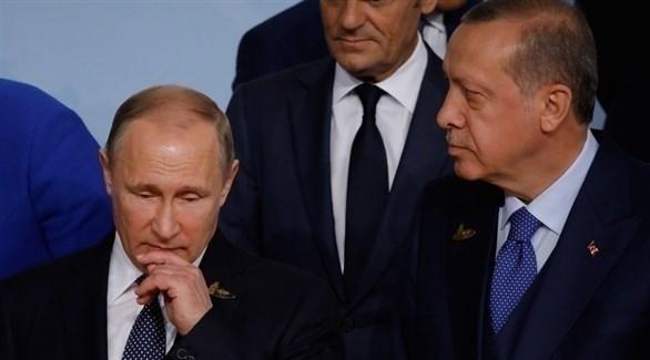 الرئيس التركي رجب طيب أردوغان والرئيس الروسي فلاديمير بوتين (أرشيف