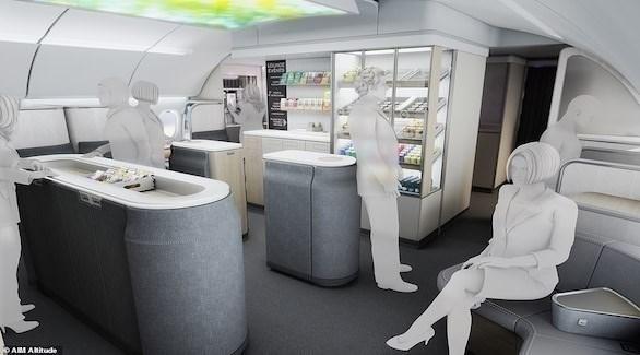 مقصورة ركاب جديدة تحتوي على غرفة جلوس ومطعم صغير (ديلي ميل)