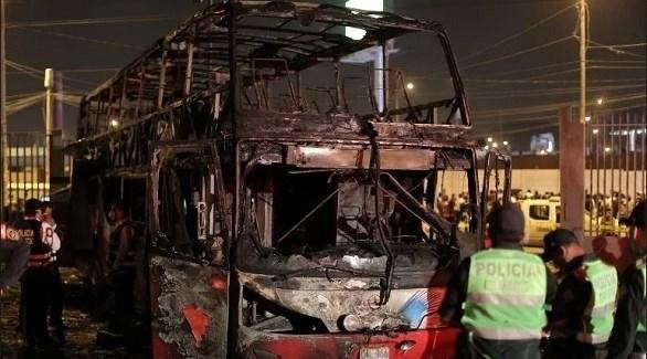 الحافلة المحترقة (أرشيف)