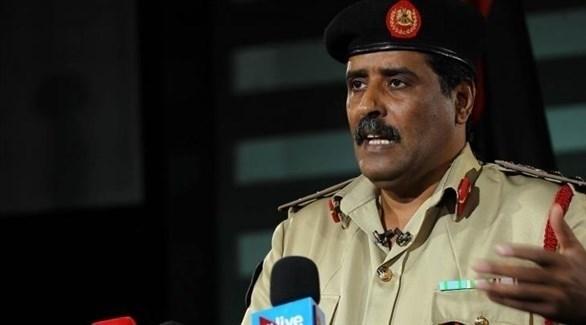 المتحدث باسم القوات المسلحة الليبية العقيد أحمد المسماري (أرشيف)