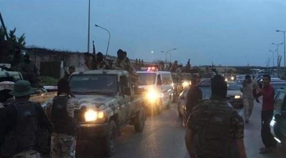 عناصر من الجيش الليبي منتشرون في طرابلس (أرشيف)
