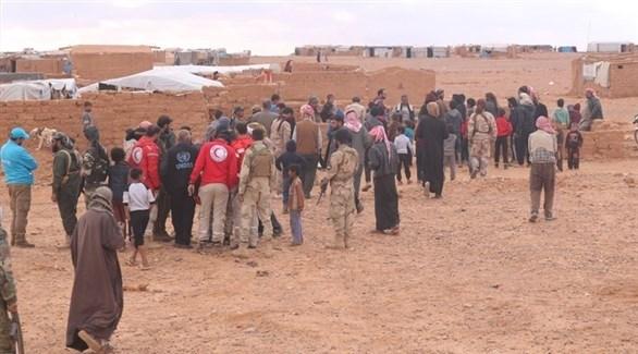 سوريون في مخيم الركبان (أرشيف)