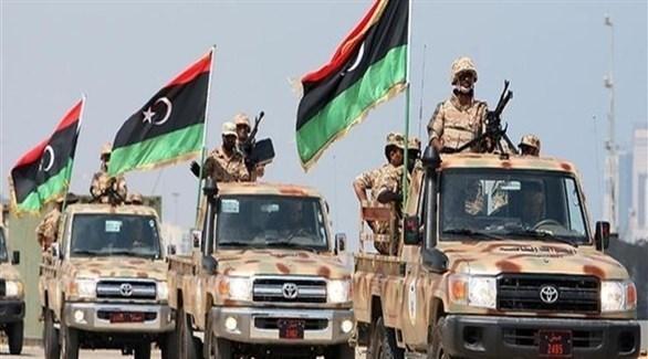 شاحنات تحمل جنوداً من الجيش الليبي (أرشيف)