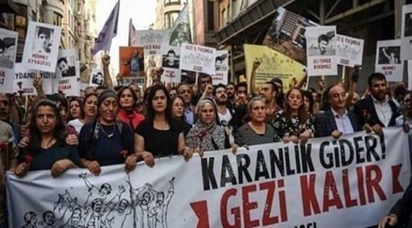 احتجاجات كردية ضد الرئيس التركي رجب طيب أردوغان (أرشيف)