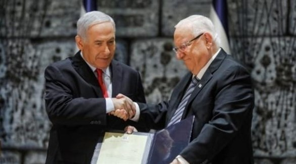 رئيس الوزراء الإسرائيلي بنيامين نتاياهو والرئيس رؤوفين ريفلين (أرشيف)