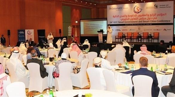 من فعاليات الدورة ا لمؤتمر الحكومة والمدن الذكية في دبي (أرشيف)