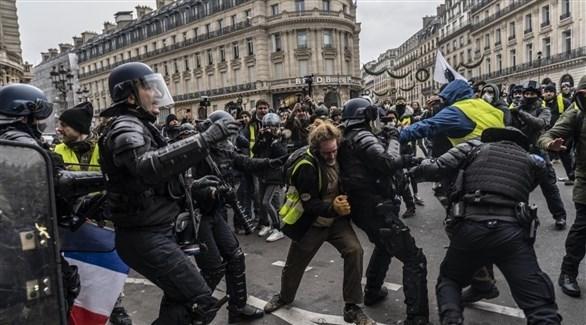 جانب من احتجاجات السترات الصفراء في باريس (أرشيف)