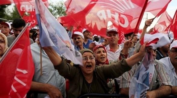 أنصار حزب الشعوب الديمقراطي يحتفلون بالفوز بالانتخابات المحلية في جنوب شرق تركيا (أرشيف)