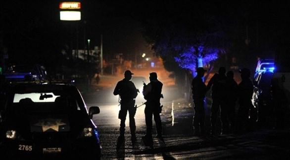 الشرطة المكسيكسة تطوق مكان الحادث (أرشيف)