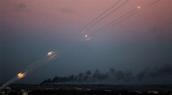 إطلاق صواريخ من غزة صوب إسرائيل (أرشيف)