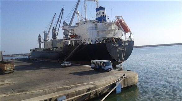 سفينة روسية في ميناء طرطوس السوري (أرشيف)