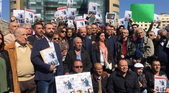 وقفة تضامنية مع المصور سمير كساب في بيروت (أرشيف)