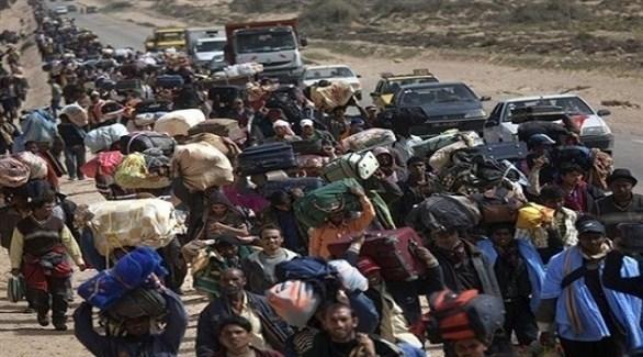 نزوح آلاف الليبيين بسبب المعارك الدائرة في العاصمة طرابلس (أرشيف)