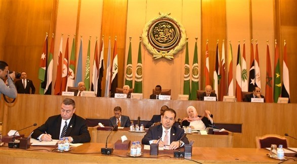 جانب من اجتماع وزراء الخارجية العرب اليوم في القاهرة (جامعة الدول العربية)