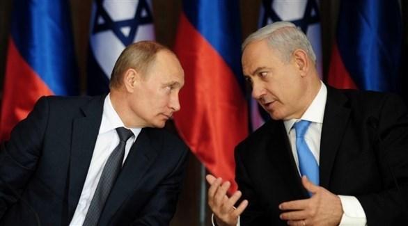 الرئيس الروسي فلاديمير بوتين ورئيس الوزراء الإسرائيلي بنيامين نتانياهو (أرشيف)