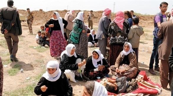 إيزيديات يتنفسن هواء الحرية بعد هزيمة داعش في الباغوز السورية (أرشيف)