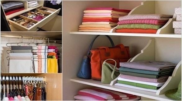 أفكار لزيادة المساحات في خزانة الملابس (أميزنغ إنتيرير ديزاين)
