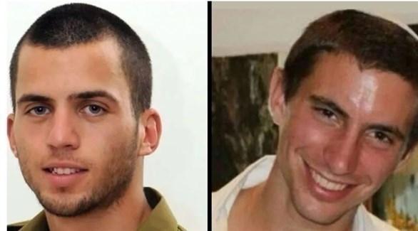 الجنديان الإسرائيليان الذين قتلا في غزة هدار غولدان يمين وشاؤول أرون (أرشيف)
