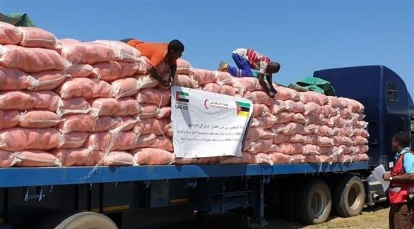 مساعدات الهلال الأحمر الإماراتي لمتضرري إعصار