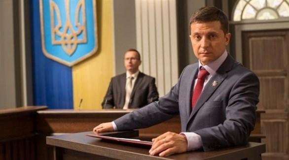 رئيس أوكرانيا الجديد فولوديمير زيلينسكي (أرشيف)