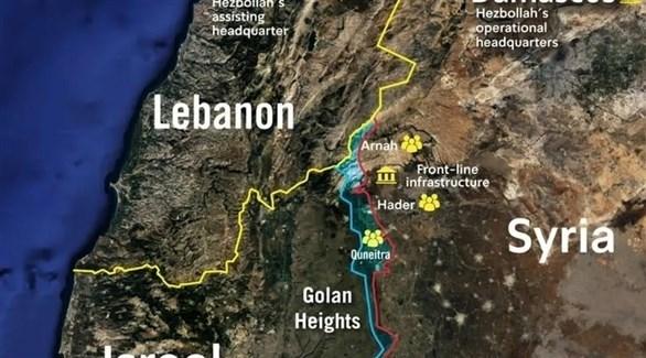 خريطة لمواقع حزب الله بحسب الجيش الإسرائيلي. (جيروزاليم بوست)