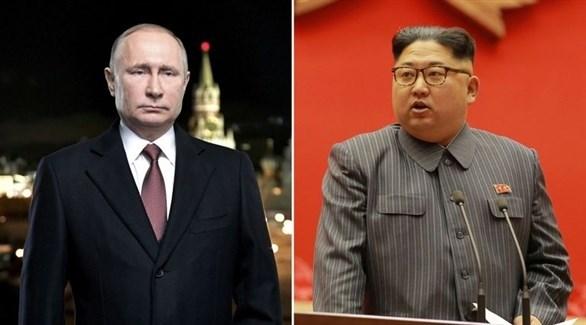 زعيم كوريا الشمالية كيم جونغ أون والرئيس الروسي فلادمير بوتين (أرشيف)