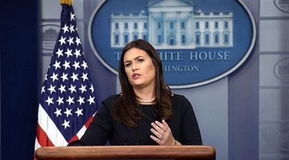 المتحدثة باسم البيت الأبيض الأمريكي سارة ساندرز (أرشيف)