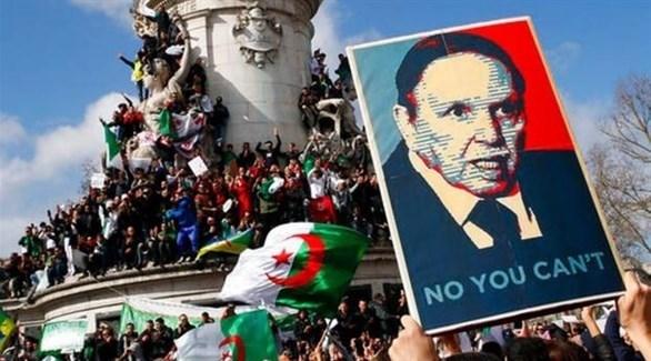 جانب من التظاهرات ضد العهدة الخامسة لبوتفليقة
