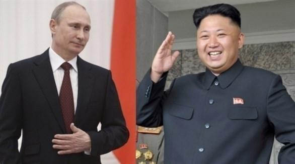 زعيم كوريا الشمالية كيم جونغ أون والرئيس الروسي فلاديمير بوتين (أرشيف)