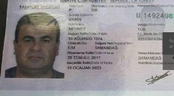 جواز سفر مقاتل تركي في ميليشيات طرابلس (من المصدر)