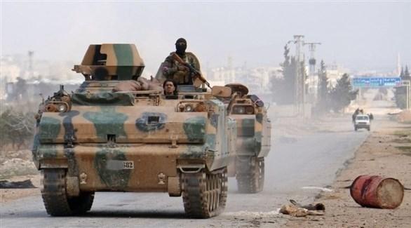 مدرعات تابعة للجيش التركي في سوريا (أرشيف)