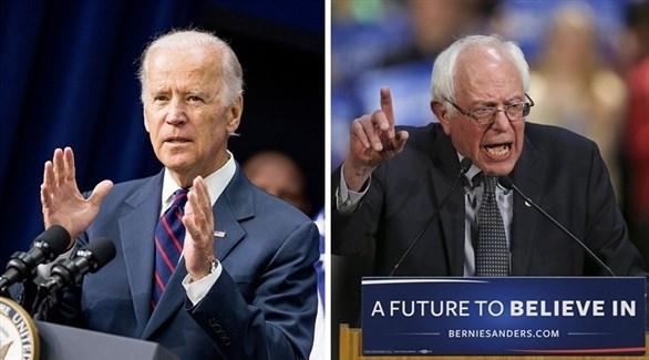 المرشحان الديمقراطيان برني ساندرز وجو بايدن (أرشيف)