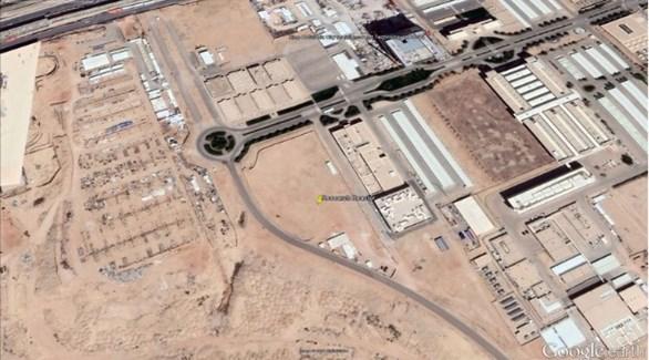 مكان المفاعل النووي كما حدده القمر الصناعي (العربية)