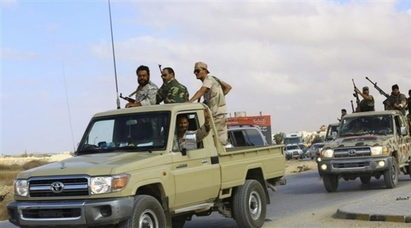 قوات مسلحة ليبية في مدينة غريان الليبية (أرشيف)