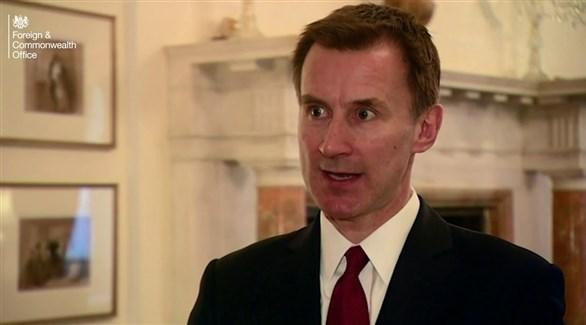 وزير الخارجية البريطانية جيرمي هانت (أرشيف)