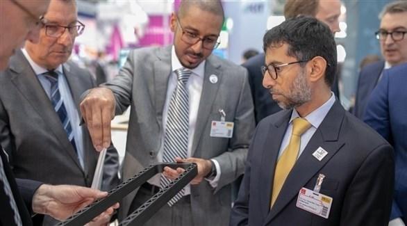 وزير الطاقة والصناعة الإماراتي سهيل المزروعي بمعرض هانوفر (وام)