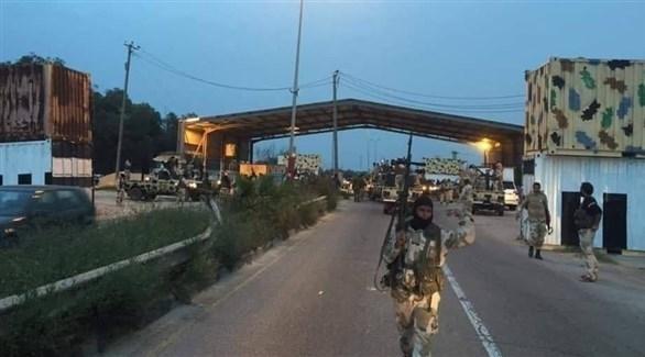 قوات من الجيش الليبي تنتشر في جنوب طرابلس (تويتر)