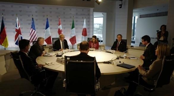 جانب من اجتماع مجموعة السبع (إ ب ا)