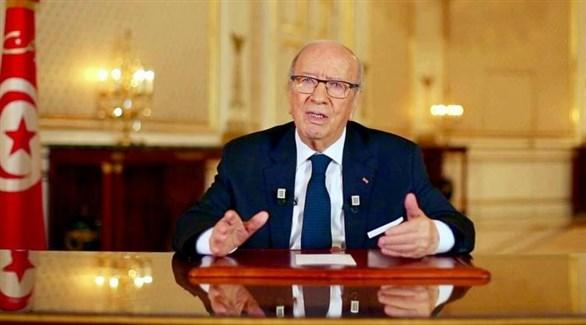 الرئيس التونسي الباجي قائد السبسي في افتتاح أشغال مؤتمر حركة