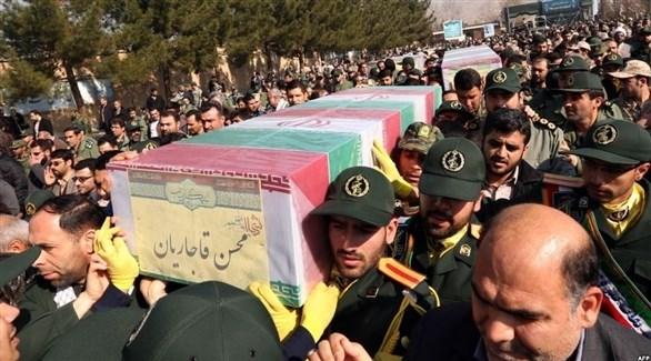 جنازة أحد أعضاء الحرس الثوري في إيران(أرشيف)