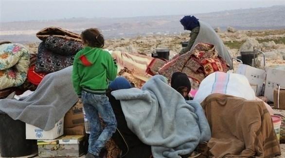 نازحون من ريف إدلب الجنوبي وحماه الشرقي (أرشيف)