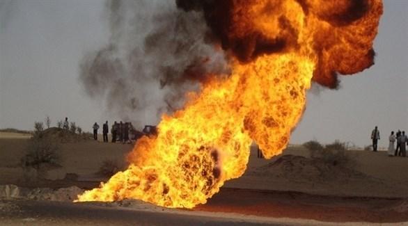 انفجار خط أنبوب غاز غرب إيران (أرشيف)