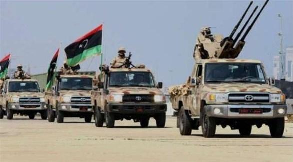 رتل عسكري للجيش الليبي (أرشيف)