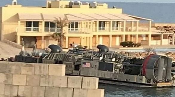 زورق أمريكي في جنزور لإجلاء قوات أفريكوم من طرابلس اليوم الأحد (تويتر)