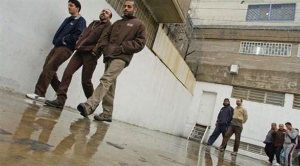 فلسطينيون في أحد السجون الإسرائيلية (أرشيف)